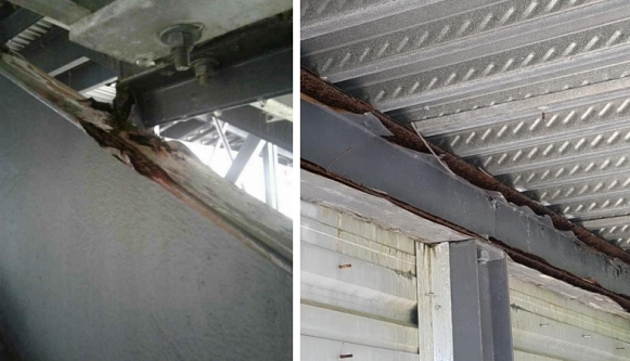 Very heavy corrosion with metal loss was observed in some locations, requiring immediate corrective action. Photo courtesy of TLC Engineering.