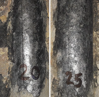 A detailed inspection had revealed accelerated degradation of the Alloy 625, just above the grate. Image courtesy of IGS