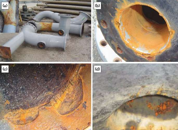 FIGURE 2 Examples of internal corrosion morphology in the ACW pipe.